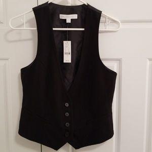 NWT New York & Co Black vest sz 6